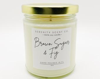 Brown Sugar & Fig | Handmade Soy Candle | Sweet Scented Candle | Brown Sugar Candle | Fig Candle