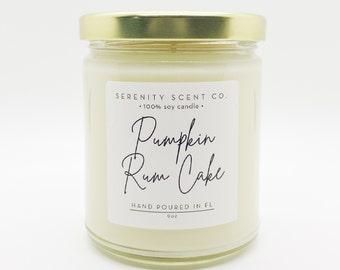 Pumpkin Rum Cake| Handmade Soy Candle | 100% Soy Wax