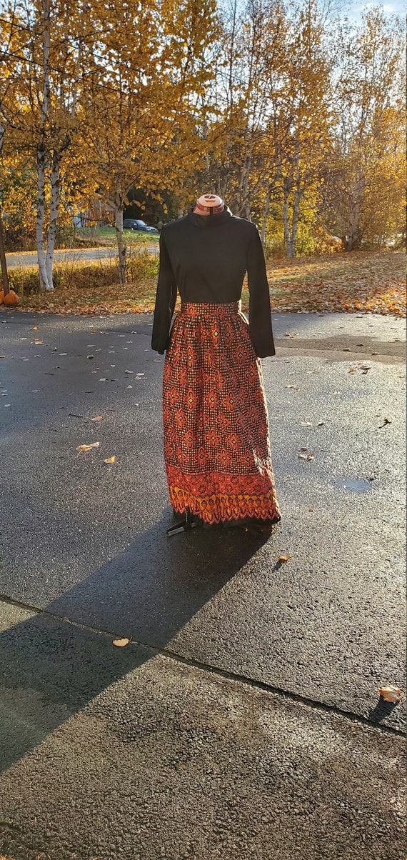 Claire Haddad Long Quilted Dress / 1970s / Medium