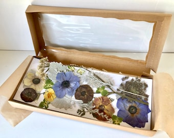 Dried PRESSED flower Assortment in box