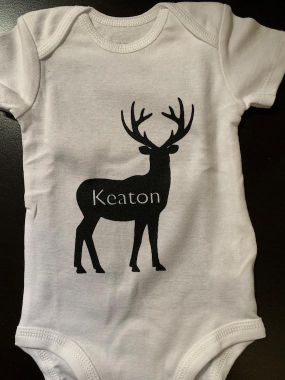 Deer Hunting Baby Onesie  No Braggin/' til You/'re Draggin/' Baby Clothes Baby Shower Gift Shirt Unisex bodysuit grandpa Daddy Deer Gift