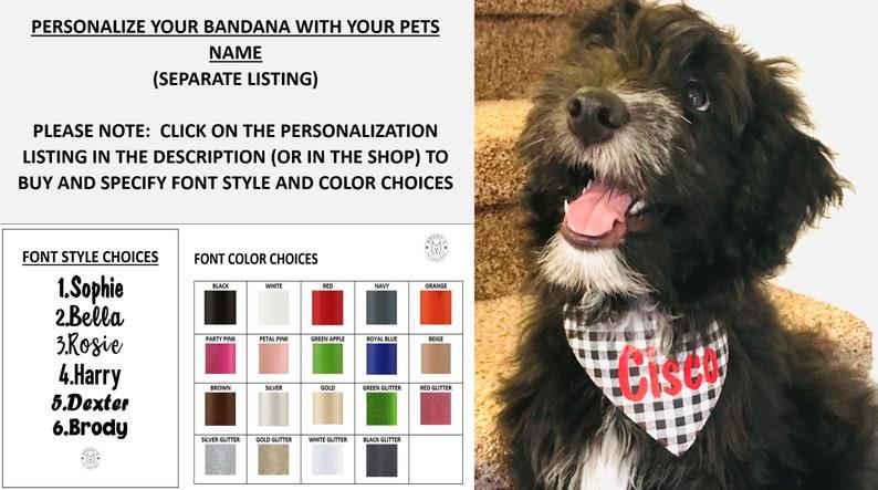 Christmas Dog Bandana-Reversible Dog Bandana-Double Sided-Snap Dog Bandana-Personalized Bandana-Size XS-Small-Medium-Large-XL-Snap Bandana