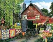 Jigsaw Puzzle - Amish Quilt Sale - 1000 Pieces
