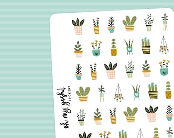 HOUSE PLANTS    Decorative Planner Stickers    S201