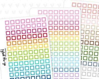 Mini CHECK SQUARE Planner Stickers    S13