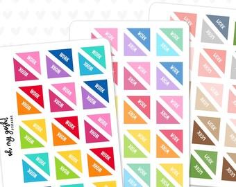 WORK Corner Planner Stickers    S162