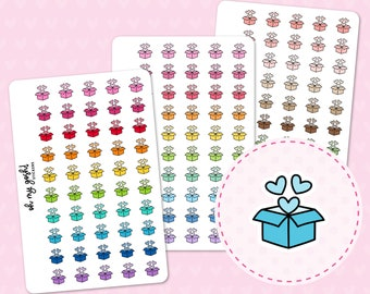 SHIPPING BOX Doodle Icon Planner Stickers    I76