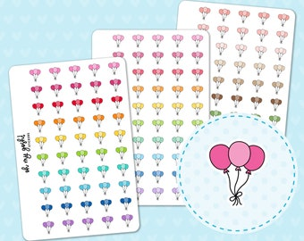 BALLOON Doodle Icon Planner Stickers    I54