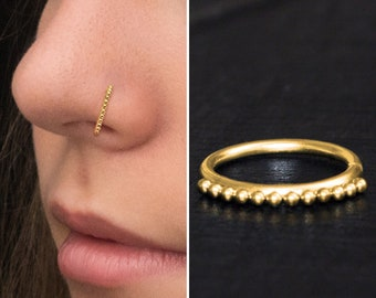Oval Nose ring pierceless pinch nose ring nose jewelry nose hoop nose jewel nose ring body jewels zircon nose ring pinch nose ring