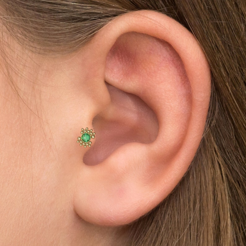 Forward Helix Barbell Piercing Surgical Steel Cartilage Earring Stud CZ Conch Earring Tragus Piercing Jewelry Tragus Bar Stud