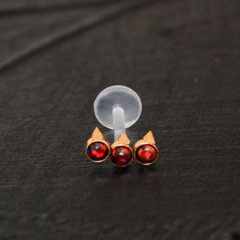 Cartilage Curved Bar Earring Bioflex Helix Piercing Cartilage Piercing Barbell Piercing Opal Helix Curved Barbell Earring