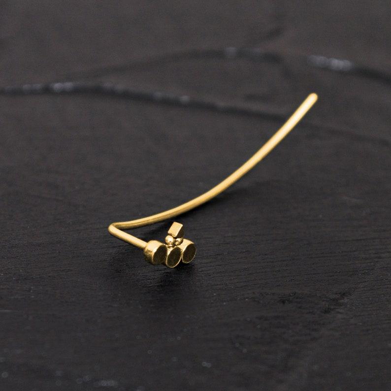 Ear Climber Earrings Surgical Steel Ear Pin Earrings Ear Crawler Earrings Curved Earring Ear Sweep Climbing Ear Cuff Earrings