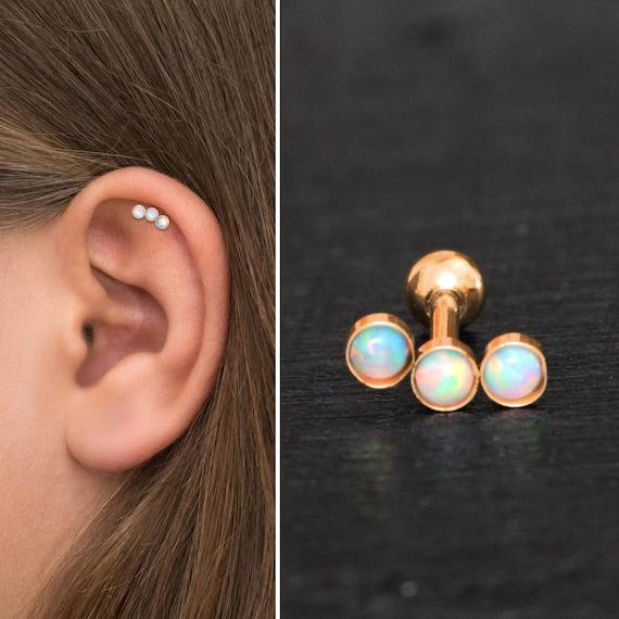 Curved Bar Stud Earring Bioflex Cartilage Stud Earring Helix Earring Cartilage Curved Earring Barbell Earring