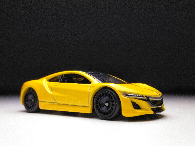 Custom Hot Wheels 20 Acura NSX, Yellow