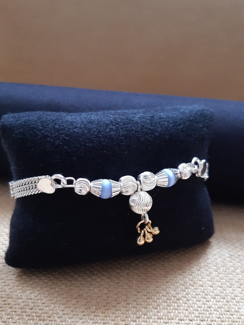 Anniversary and Birthday Gift,Women/'s Gift 20cm 11 gm bracelet weight,Traditional Elegant Ethnic Bracelet Sterling Silver Ethnic Bracelet