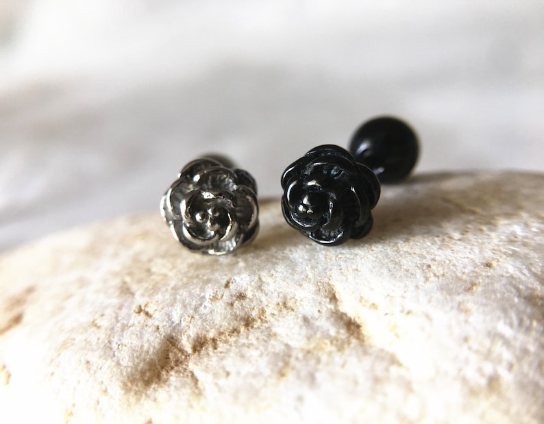 """SPARKLING STAR CARTILAGE TRAGUS EAR PIERCING BARBELL STUD JEWELRY 18G 1//4/"""""""