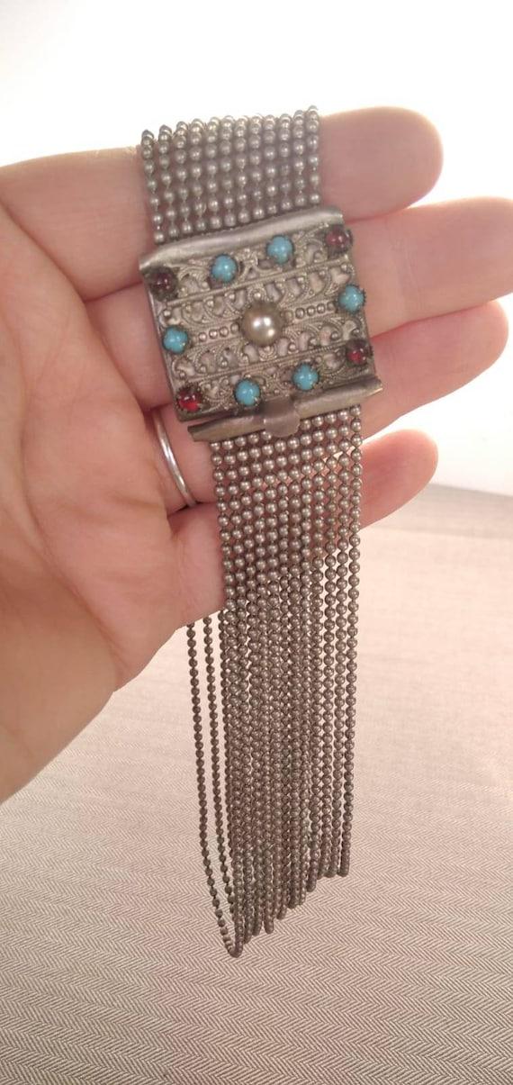 Antique costume jewelry 1930's costumes croup neck