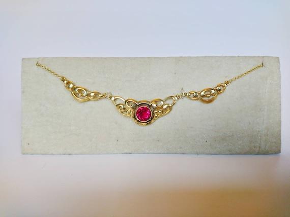 Art Nouveau Chain Doublé Necklace 1920's Collier R
