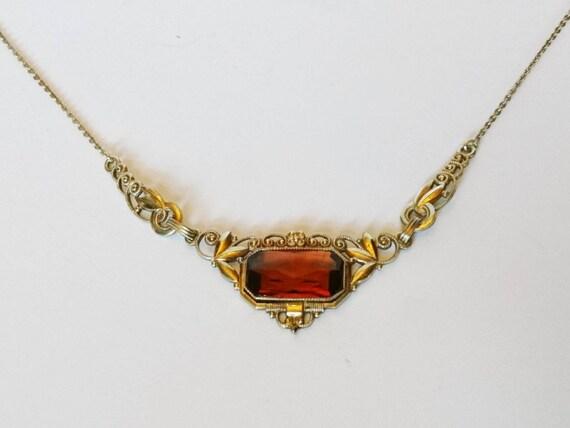 Art Nouveau necklace Speidel Pforzheim Doublé neck