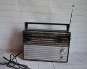 Original VEF 202 working in a vintage radio retro Soviet transistor receiver of the 1970s