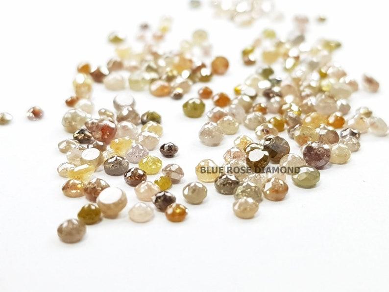 Rustic Diamond Fancy Tambuli Cut  Diamond Natural Loose Salt and Pepper Diamond 5.01 Ct Natural  Round Rose Cut Mix Color Diamond