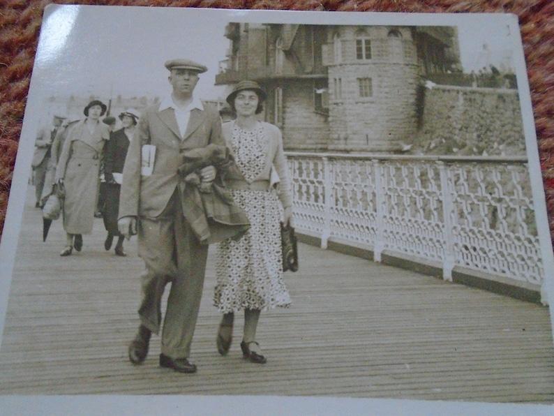Llandudno Pier Walk Vintage Photograph