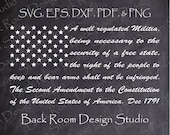 2nd Amendment Flag Svg, Eps, Dxf, Pdf, and Clear 300 Dpi Png files