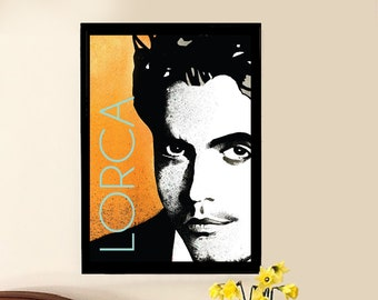 Colours Lorca Illustration Writer. Gift Wall Decoration High Quality Glicee Art Print