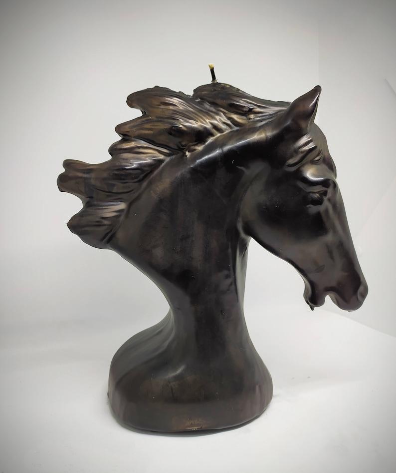 Horse Head Candle  V\u0130ntage Horse Decor Figural Candle Retro Horse Horse Head  Aesthetic Room Decor  Hockey Decor Figure Candle Luxury Candle