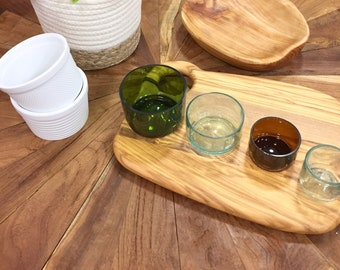 Glass Measuring Cups made from Repurposed Bottles--  Handmade, unique chef gift, gift for foodie, gifts for bakers!