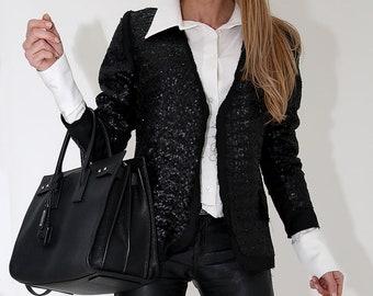 Office Suit Structured Blazer Women Fashion Blazer Casual Suit Mesh Suit Formal Blazer Extravagant Mesh Blazer ConceptBG