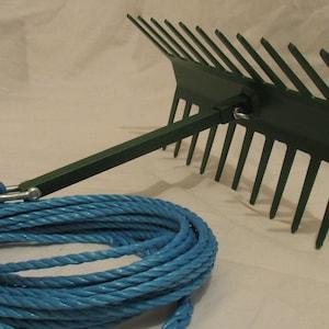 """POND WEED RAKE 24/"""" 20M rope"""