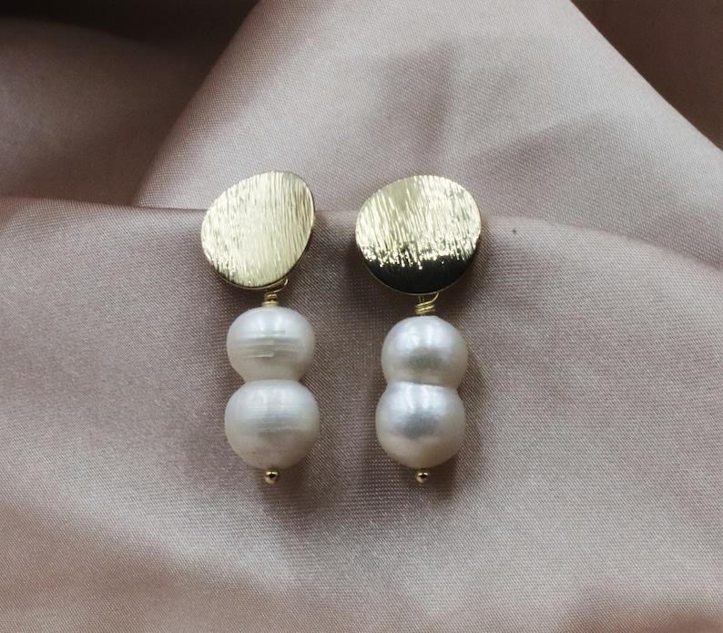 Real Pearl Earrings Gift Pearl Stud Earrings Vintage Bridal Earrings Small Pearl Earrings Formal Earrings 24k Gold Earrings