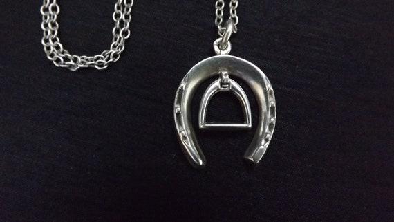 Victorian equestrian silver pendant