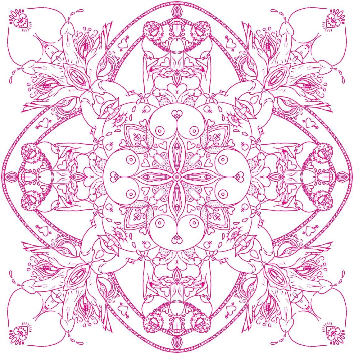 Mandala Stil erotische Sex positive Muster quadratische   Etsy