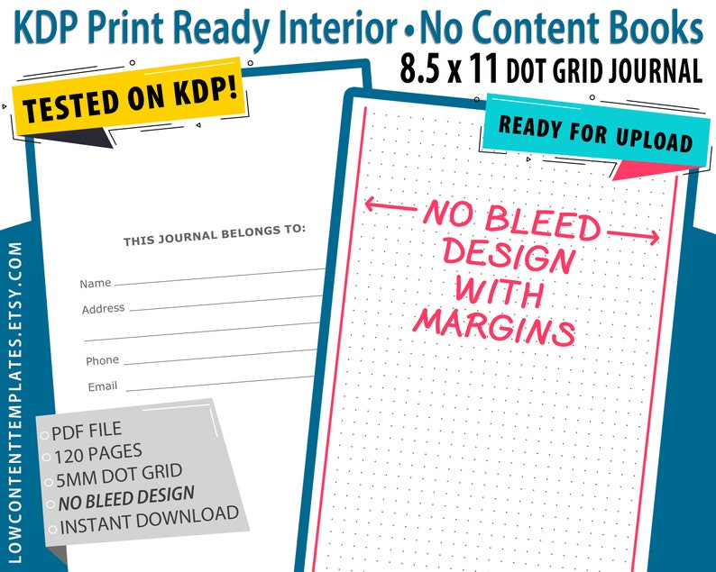KDP Kindle Direct Publishing Instant Download 8.5x11 Blank Comic Book KDP Template Commercial Use Licence KDP Interior