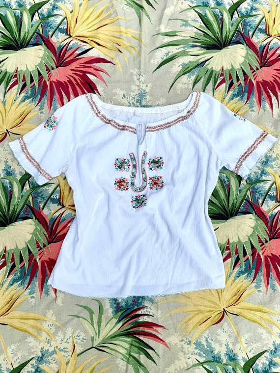 Vintage 70s does 30s Embroidered Hungarian Style B