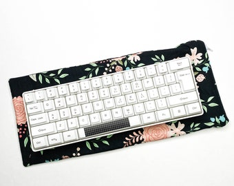 Mechanical Keyboard Carrying Case - Sleeve - Case - Bag - Pouch   65/60% TKL - Floral
