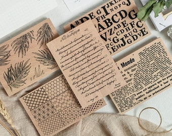 Upper//Lower Script Combo Pack by The Stamps of Life Uppercase and Lowercase Script Alphabet Stamps for Card Making and Scrapbooking by