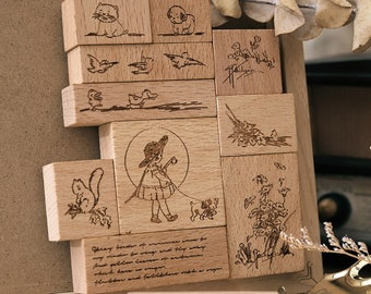MEADOW JOURNAL Stamp Set with Framelits Dies Ladybug New Duck Squirrel