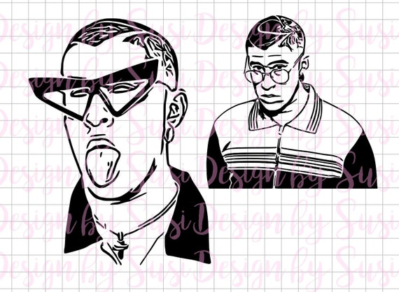 Bad Bunny Svg Bad Bunny Art Bad Bunny El Conejo Malo Etsy