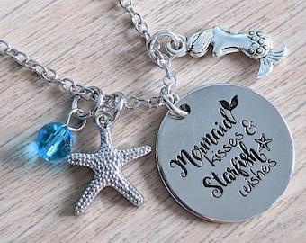 Jewelry Necklace Mermaid Necklace Silver Birthday Mermaid Friendship Gift Necklace Lagoon Really a mermaid Mermaid Ariel