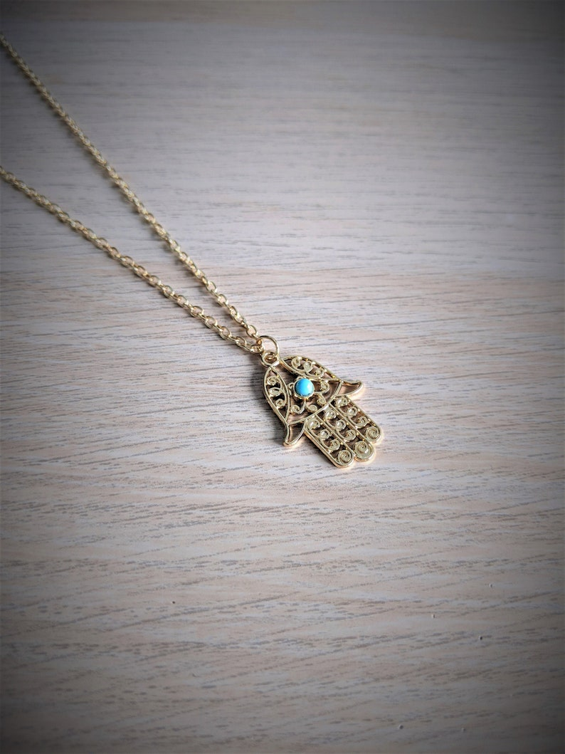 Dainty Gold Jewelry Gift Gift For Her Hamsa Jewellery Hand of Fatima Necklace Evil Eye Jewellery Hamsa Necklace Evil Eye Necklace