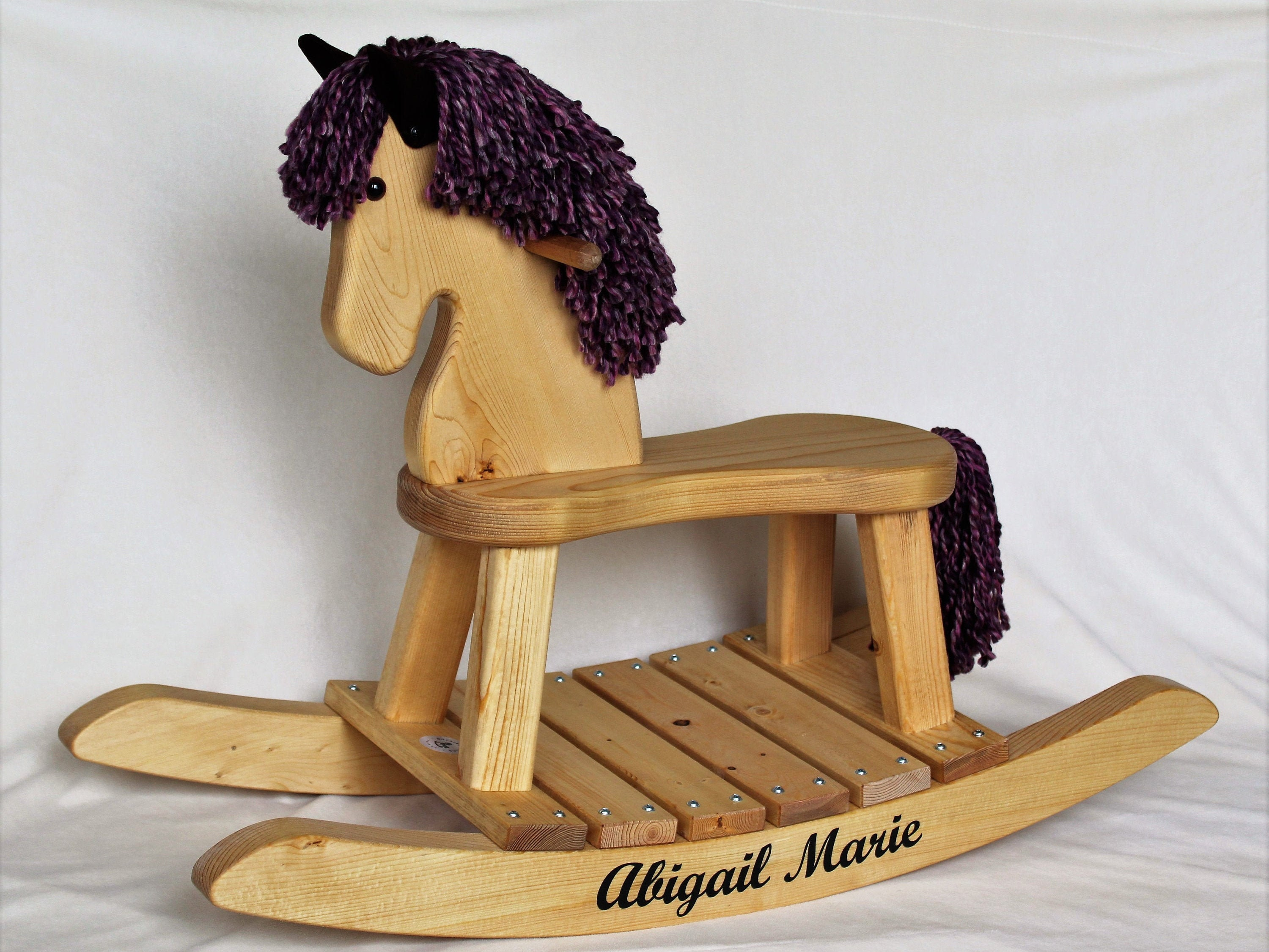 Traditional Toddler Wooden Rocking Horse - Personalized Gift for Children