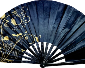 SoJourner Bags Rave Hand Fan Drag Queen /& Burlesque Large Folding Fans for Festivals Cute Holographic Rave Accessories for Women