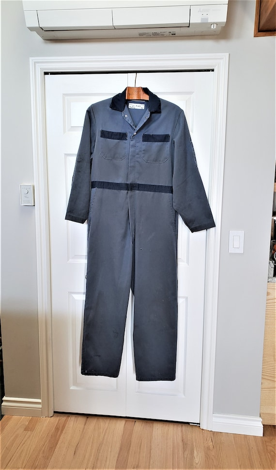 1970s Industrial Distressed Coveralls, Utility Ove