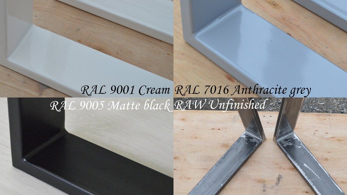 Handmade Metal Table Legs, Industrial Table Legs, Metal Dining Table Legs, Steel Dining Table Legs  - U Shaped Design /SET of 2/