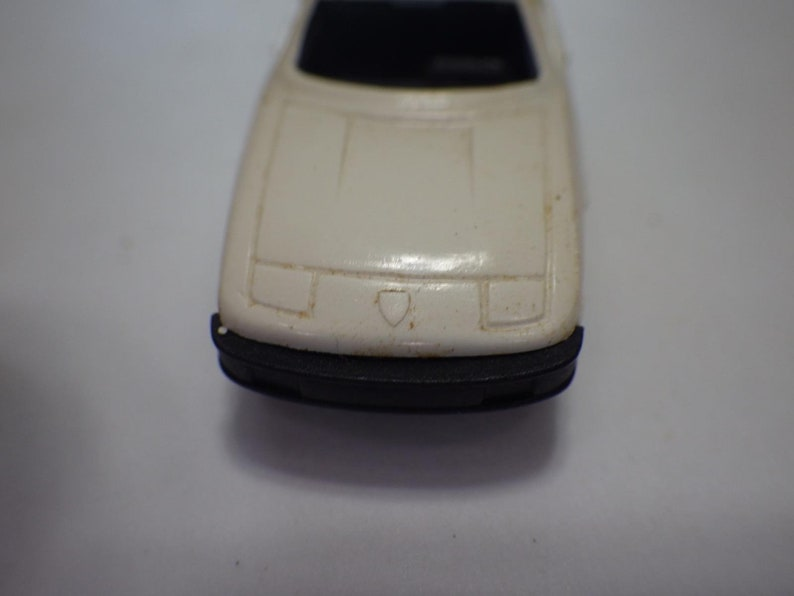 White Porsche 924 Plastic 1:89 Germany Bruder-Mini