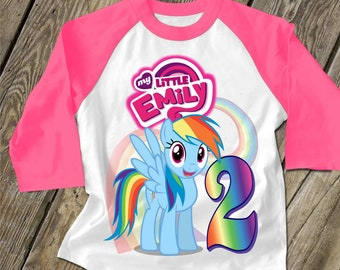Equestria Girls T-shirt Personalize Birthday party gift custom Tee Shirt MLP