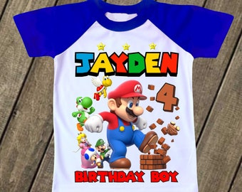 Super Mario Birthday T Shirt Party Supplies Decor T Shirts Tshirts Tee Decor